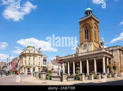 Chiesa Parrocchiale di tutti i santi, George fila e fila di tappeti, centro città, Northampton, Northamptonshire, England, Regno Unito, Europa