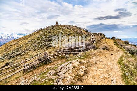 Alfiere di punta vicino al centro cittadino di Salt Lake City in Utah Foto Stock