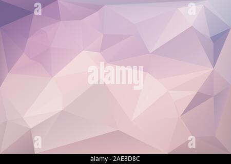 Abstract sfondo geometrico con triangoli. Vettore texture poligonale dello sfondo. Rosa e viola abstract background aziendale. EPS10 Foto Stock
