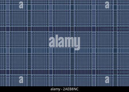 Le linee verticali e orizzontali con ombra per un'illusione ottica sembra di vedere i cerchi, sfondo astratto