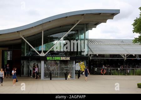 Servizi di Oxford Waterstock sulla M40 Oxfordshire Inghilterra Welcome Break stazione di servizio autostradale