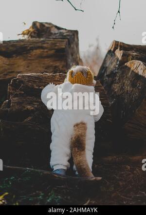 Little Boy vestito come Max da dove le cose selvagge sono nei boschi