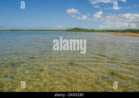 Paesaggi su 'isola di Boipeba', spiagge di Bahia, Brasile