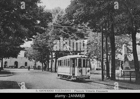 San Giovanni Valdarno - il Tram; 1 gennaio 1930; Foto d'epoca; Unkno n;