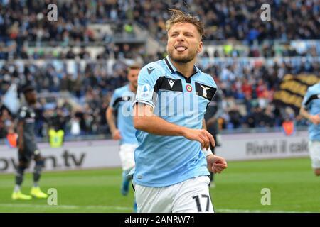 Ciro immobile (lazio) durante il Lazio vs Sampdoria , Roma, Italia, 18 gen 2020, Calcio Calcio italiano di Serie A del campionato Gli uomini Foto Stock