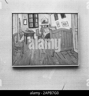 Camera Da Letto In Arles La Chambre A Arles Simile Tre Dipinti Di Vincent Van Gogh 1853 1890 Terza Versione 1889 Foto Stock Alamy