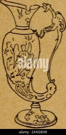 Catalogo delle collezioni della American Art Association da vendere assolutamente all'asta per depositare la tenuta del tardo RAustin Robertson; parte prima . pollici. 2fr71 Paio di Candlesticks. Agate, con ormoloontings. Louis XVI design, squisitelychased e finito, con vaso-come top showinga fregio di figure in forte rilievo spensierlymodeled. 18th secolo. Altezza, 7J pollici. 2672 Coppia di Candlestieks. Ormolu bronzemounting, su marmo bianco di Carrara. Threecaryatides. Stile Del Primo Impero. Altezza, 8iinches.. 266<