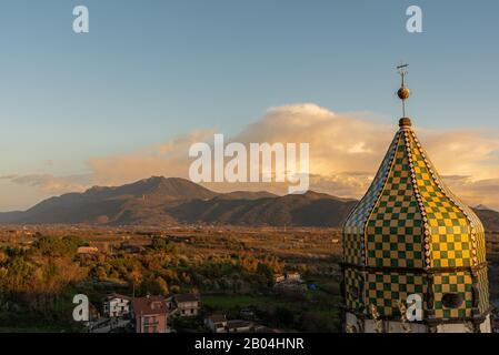 Teano, Campania. Monastero Di Santa Caterina. Il campanile. Vista.