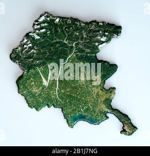 Cartina Fisica Del Friuli Venezia Giulia.Friuli Venezia Giulia Italia Mappa Grigio Foto Stock Alamy