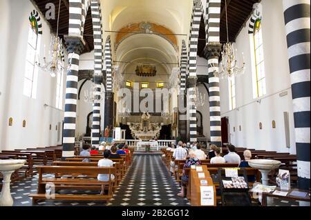 Italia, Liguria, Cinque Terre, Monterosso, Chiesa Di San Giovanni Battista Foto Stock