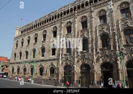 Edificio principale della posta in Messico. Palacio de Correos. Foto Stock