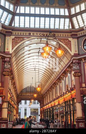 Mercato Leadenhall, London, England, Regno Unito