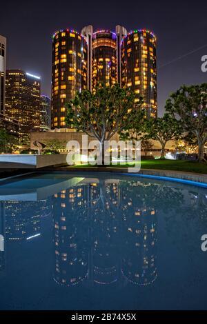 Office building, centro di Los Angeles, California, Stati Uniti