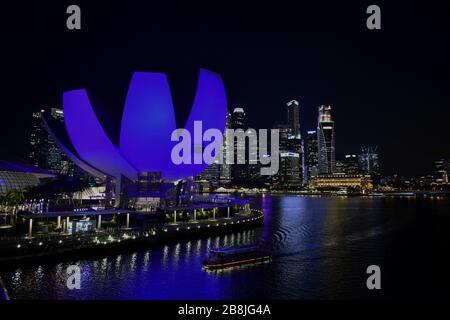 Singapore - Gennaio 4 2019: Lo skyline di Singapore Foto Stock