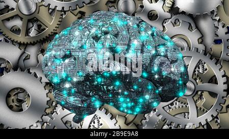 Il cervello della macchina Foto Stock