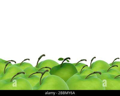 mele verdi closeup concetto di sicurezza orizzontale di fondo