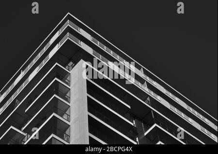 Prospettiva nell'architettura. Linee. Foto Stock