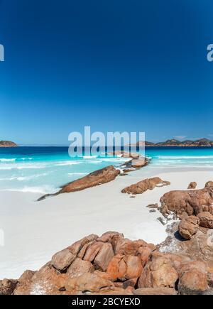 Lucky Bay Beach in una giornata estiva al Cape le Grand National Park, Esperance Foto Stock