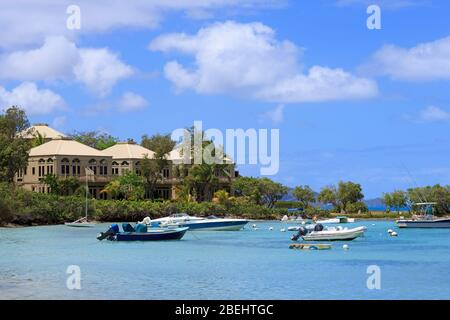 Cruz Bay, St John, Isole Vergini degli Stati Uniti, Caraibi Foto Stock