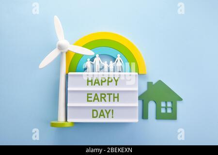 Concetto ecologico di Earth Day. Mondo ecologico. Felice giorno della terra. Concetto di amore. Sfondo ecologico. Foto Stock