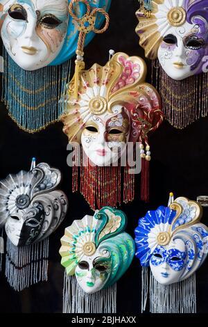Maschere veneziane a Venezia, Italia, Europa Foto Stock
