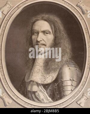 Autore: Robert Nanteuil. Le Marchal de Turenne - 1665 - Robert Nanteuil Francese, 1623-1678. Incisione su carta. Francia.