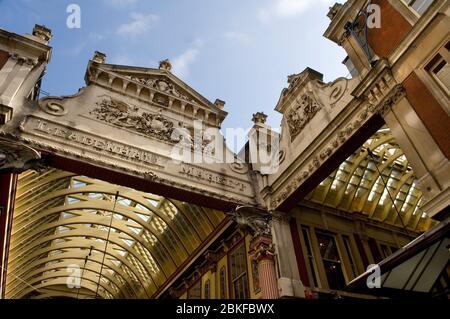 Leadenhall Market, City, Londra, Inghilterra.