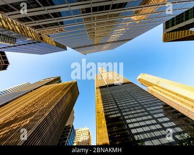 Vista dall'alto dei grattacieli di chicago e degli alti edifici degli uffici. Mostra vari stili architettonici. Illinois stati uniti. Foto Stock