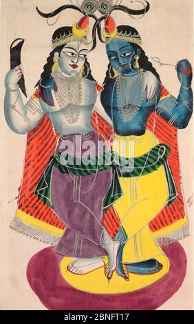 Balarama e Krishna, 1800, arte indiana e del sud-est asiatico
