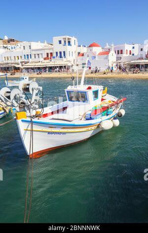 Mykonos Città vecchio porto, Mykonos, Cicladi, Grecia Foto Stock