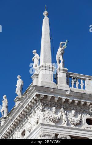 Biblioteca Nazionale di San Marco (Biblioteca Marciana), Venezia, Italia. È una delle più grandi biblioteche d'Italia. Ha una delle coll più importanti Foto Stock
