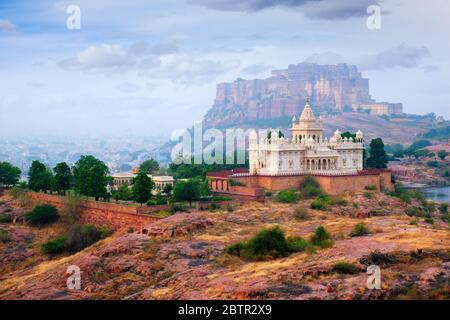 Thada Jaswanth mausoleo, Jodhpur, Rajasthan, India