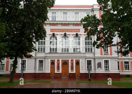 Mosca, Russia. 2 Giugno 2020. Una visione dell'Università russa dei Trasporti (MIIT). Credit: Sergei Fadeichev/TASS/Alamy Live News