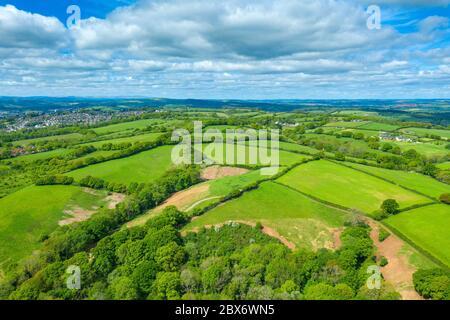 Spreeng in Devon visto su Beacon Hill vicino Exeter, Devon, Inghilterra, Regno Unito, Europa