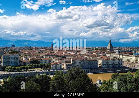 Italia Piemonte Torino Monte dei Cappuppini - vista di Torino con Mole Antonelliana