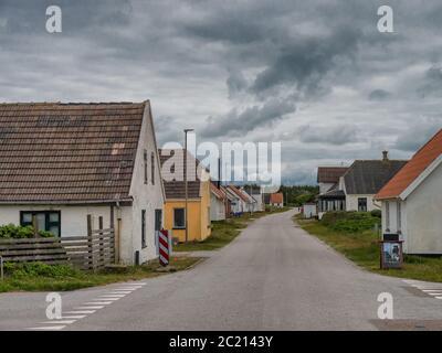 Strada principale nel piccolo villaggio LildStrand, Thy Danimarca