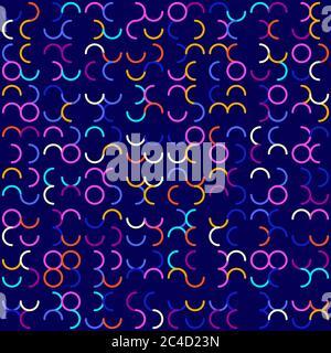 Sfondo geometrico astratto. Modello tecnologico astratto con forme geometriche colorate in tessellazione. Reticolo astratto lineare, colorazione casuale. V Foto Stock