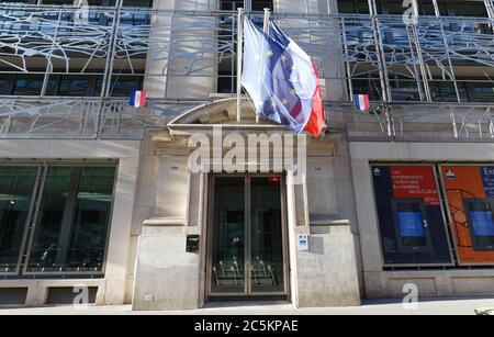 Progetto originale del Ministero della Cultura e della comunicazione edificio in una parte storica di Parigi, Francia. Foto Stock