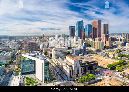Los Angeles, California, USA Downtown Aerial City scape