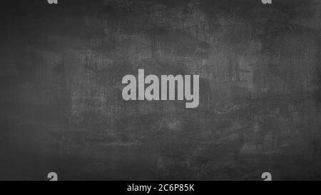 Anteriore vuoto nero reale chalkboard texture di sfondo nel collegio di concetto per il ritorno a scuola kid sfondo per creare gesso bianco disegnare testo grafico. Emp
