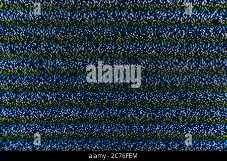 Stract screen texture glitch rumore. Testare il modello di texture del rumore di stridio dello schermo. Sfondo bianco e nero. L'immagine monocromatica astratta include un Foto Stock