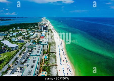 Vista aerea della spiaggia di Perdido Key in Florida