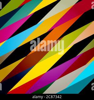 colorato sfondo geometrico astratto, illustrazione con rhombus, Foto Stock