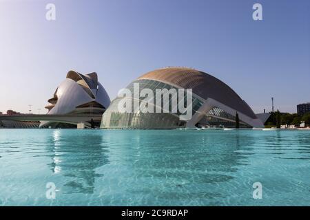 Art Palace o Palau de les Arts a Valencia nel complesso architettonico della Città delle Arti e delle Scienze, Spagna