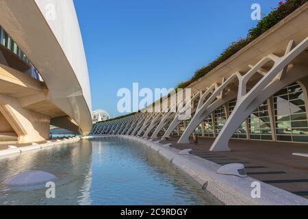 Museo della scienza a Valencia nel complesso architettonico della Città delle Arti e delle Scienze, Spagna