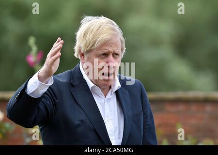 Il primo ministro britannico Boris Johnson, Nottingham, luglio 28 2020. Foto/Rui Vieira email: rui@ruivieira-fotografia