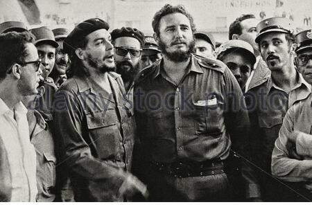 Foto retrò di Fidel Castro ed Ernesto 'che' Guevara. anni '60 Foto Stock