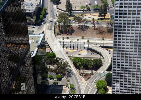 Los Angeles California USA paesaggio urbano tra grattacieli
