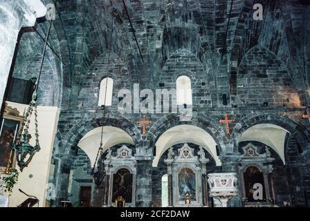 Interno della Chiesa di San Giovanni di Pré (Chiesa di San Giovanni di Pré), Commenda di San Giovanni di Prè (complesso di San Giovanni di Prè), Metropolita Foto Stock
