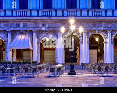 Piazza San Marco (Piazza San Marco), Biblioteca Nazionale Marciana, Venezia (Venezia, Venesia), Veneto, Italia, Città Metropolitana Venezia, Foto Stock
